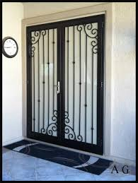 Ornamental Home Design Inc by Wrought Iron Storm Doors I76 For Your Excellent Interior Design