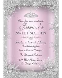 special silver winter pink sweet 16 invitation