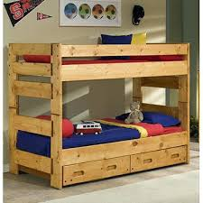 Bunk Bed With Trundle And Drawers Bunk Bed With Trundle Rainbow Black Metal Bunk Bed W Of