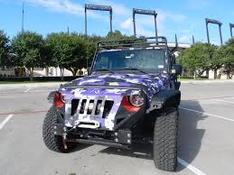 jeep camo tcu fan decks out jeep in purple camo frogs o u0027 war