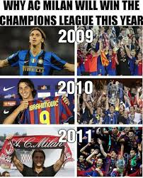 Chions League Memes - ac milan chions league winner 2013 soccer memes