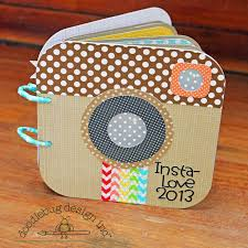 small scrapbook album doodlebug design insta faves mini album scrapbook mini