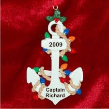 anchors away personalized ornaments by
