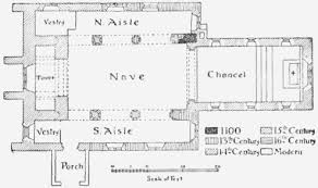 All Saints Church Floor Plans by Parishes Sanderstead History