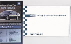 2004 chevrolet impala owners manual chevrolet amazon com books