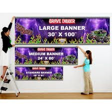 large grave digger monster truck toy monster jam grave digger personalized vinyl banner