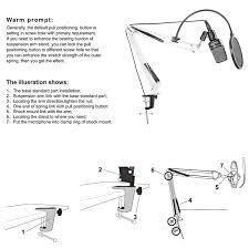 amazon com neewer white broadcasting studio microphone suspension