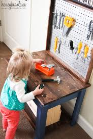 Toy Wooden Tool Bench Bench Work Bench For Toddlers The Home Depot Kids Toy Work Bench