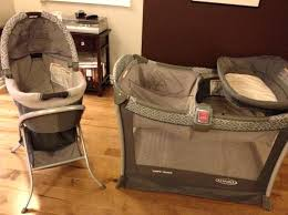 Graco Pack N Play Bassinet Changing Table How To Put Together A Pack And Play With Bassinet Image Of Pack N