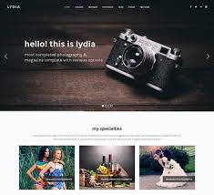 photography website templates u2013 new photography themes every month