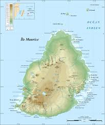 World Map With Mountain Ranges by Topographic Map Of Mauritius Mauritius Maps Pinterest