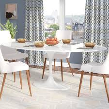 White Marble Dining Tables Langley Larkson White Oval Marble Dining Table Reviews