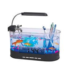 aquarium bureau usb de bureau fish tank aquarium avec led lumière fish tank aquarium