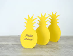 pineapple place cards set of 24