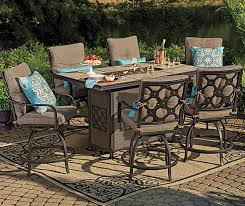 patio table with fire pit patio marvellous high top sets outdoor with regard to bar height