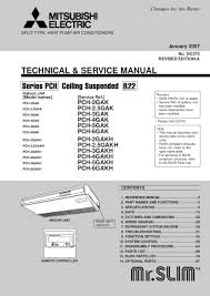 service manual mitsubishi air conditioner air conditioner databases