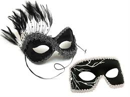 masquerade masks for couples black lightning mask for a