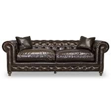 Tufted Leather Sofa Bed Greenwich Tufted Leather Sofa Shalimar Cocoa