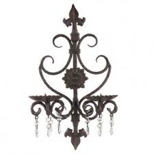 Crystal Candle Sconce Wrought Iron Candle Sconce Foter