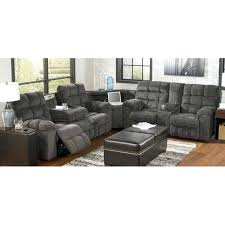 modern reclining sectional with chaise sofa in grey leather