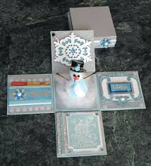 christmas gift card boxes croatian crafter snowman explosion box gift card holder