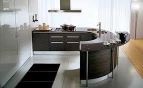 modern curved kitchen island kitchen design