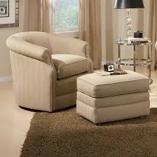 Living Room Chair With Ottoman Chairs Awesome Comfy Chair With Ottoman Barrel Swivel And