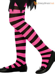 costume witch shoes girls stripey striped tights halloween witch alice fancy dress