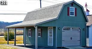 14 28 1 car 2 story garage with gambrel roof overhangone door size