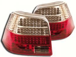 vw led tail lights vw golf mk4 yrs 98 04 crystal led tail lights rear e marked