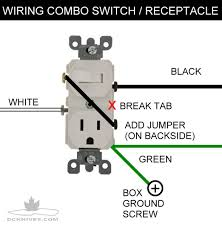 how to wire a light switch and outlet combo home wiring wire
