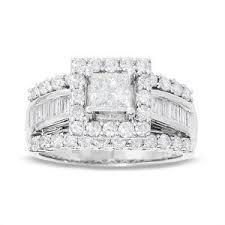 princess cut engagement rings zales 2 ct t w frame princess cut engagement ring in 14k