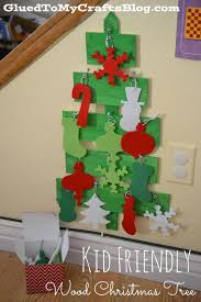 kid friendly wood christmas tree craft glued to my crafts