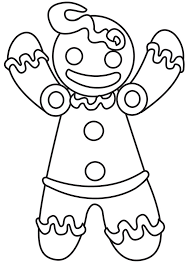 cute gingerbreadman free christmas coloring pagesfree printable