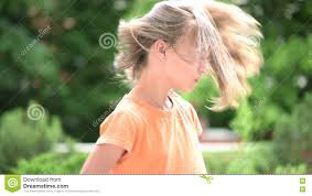 hair that flips in the back girl flips hair slow motion stock footage video 73685178