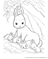farm animal coloring pages printable mother rabbit coloring
