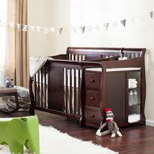 convertible crib with changing table attached stork u2014 dropittome