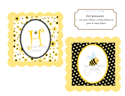 bumble bee banner for birthday or baby shower diy printable