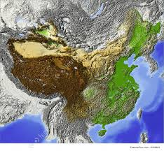 Relief Map Shaded Relief Map Of China Stock Illustration I1659803 At Featurepics