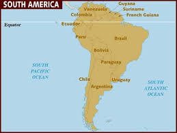 chile physical map map of south america
