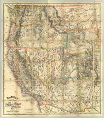 Map Of Denver Colorado Rand Mcnally Official Railway Map Of The Pacific Coast States