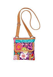 bloom purse bloom pink floral garden camilla crossbody zulily fashion