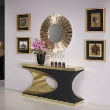 meubles entrée design console d entrée unique feuille d or et d argent design baroque porto