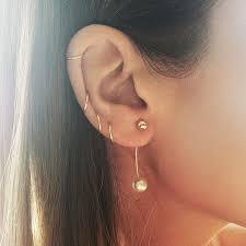 ear piercing hoop unique and beautiful ear piercing ideas stylist