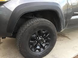 toyota tacoma jacked up trd off road wheels painted black page 4 tacoma world