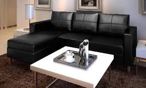 salon canapé noir canape de salon en cuir noir