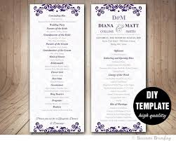diy wedding program template best 25 diy wedding program template ideas on