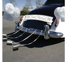 wedding car decorations wedding car decorations party city