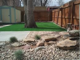 synthetic lawn wray colorado paver patio backyard landscaping