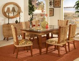 Best Indoor Wicker And Rattan Dining Sets Images On Pinterest - Wicker dining room chairs